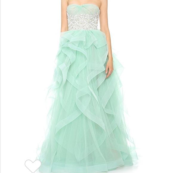 Reem Acra Prom Dresses Ocean Blue